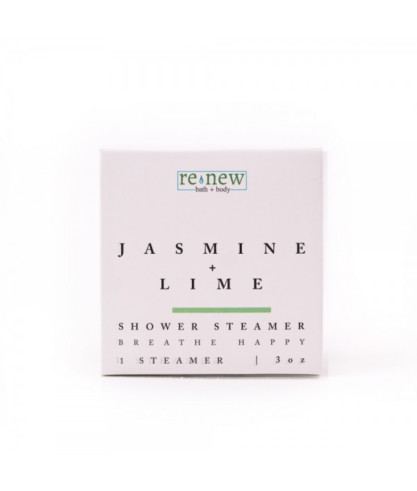 jasmine + lime shower steamer
