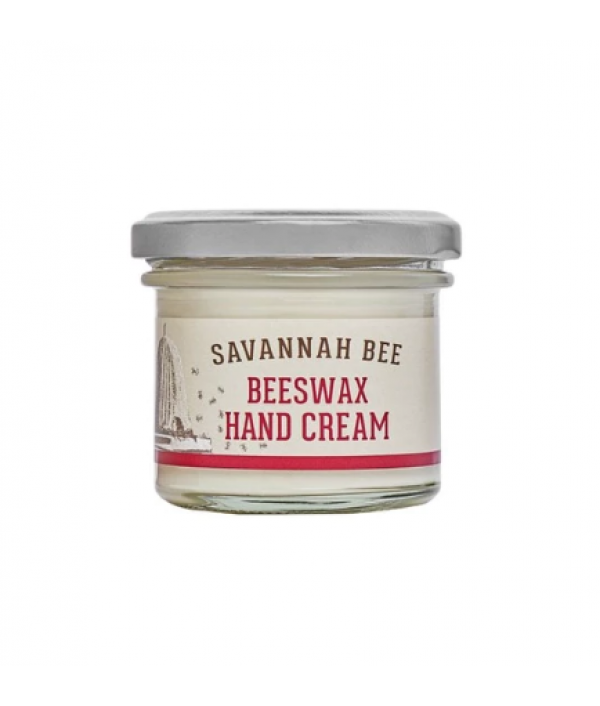 savannah bee beeswax hand-cream in a jar