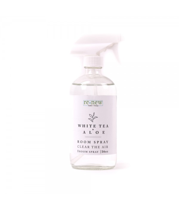 white tea + aloe room spray 16 oz