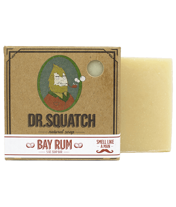 dr squatch bay rum bar soap