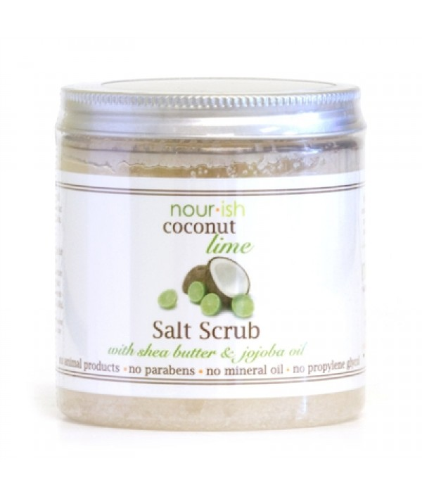 nourish coconut + lime salt scrub