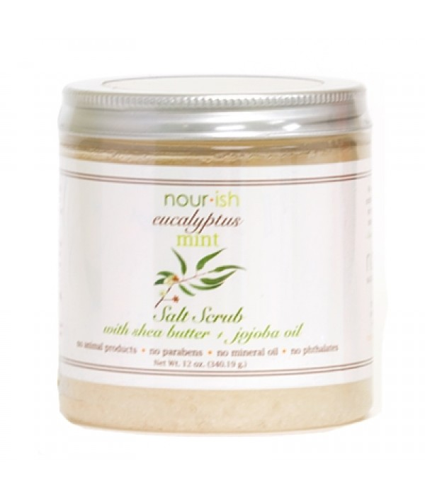 nourish eucalyptus mint salt scrub