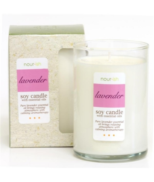 nourish lavender soy candle 12 oz