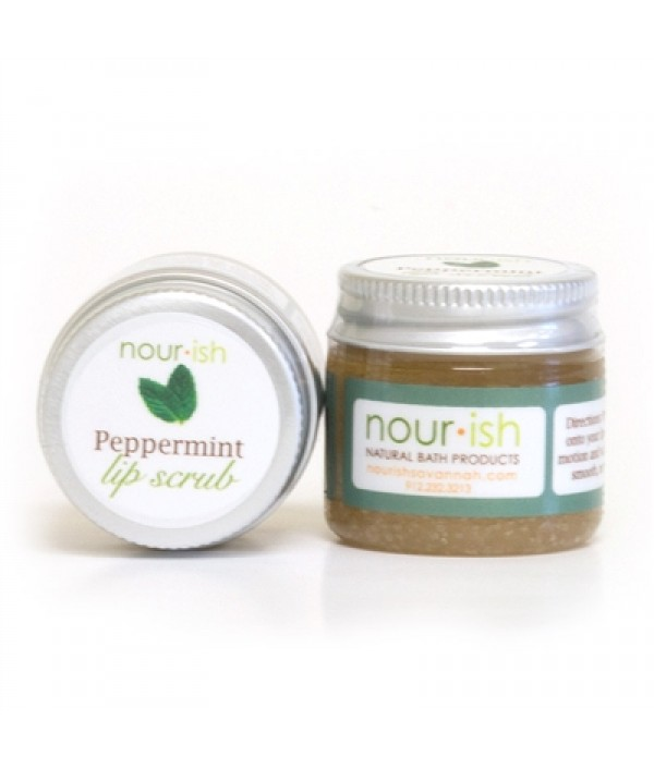 nourish peppermint lip scrub
