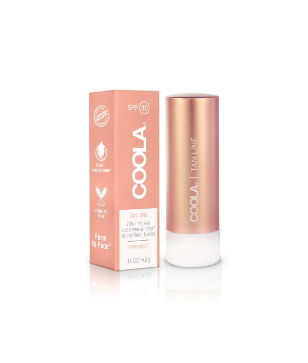 coola sunscreen liplux lip balm tan line...