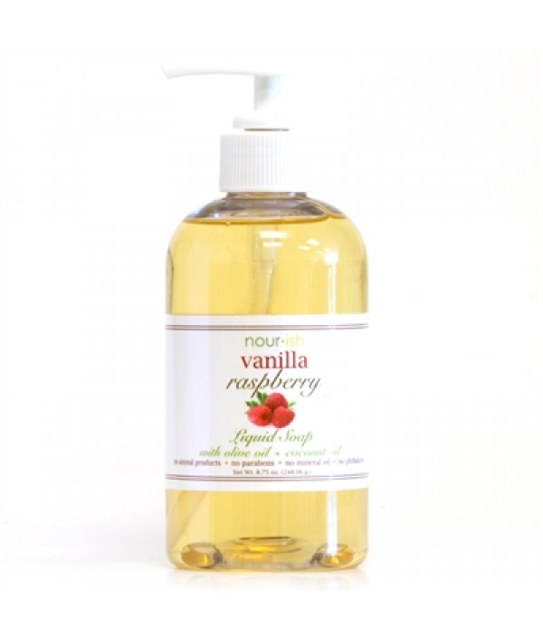 nourish vanilla raspberry hand soap