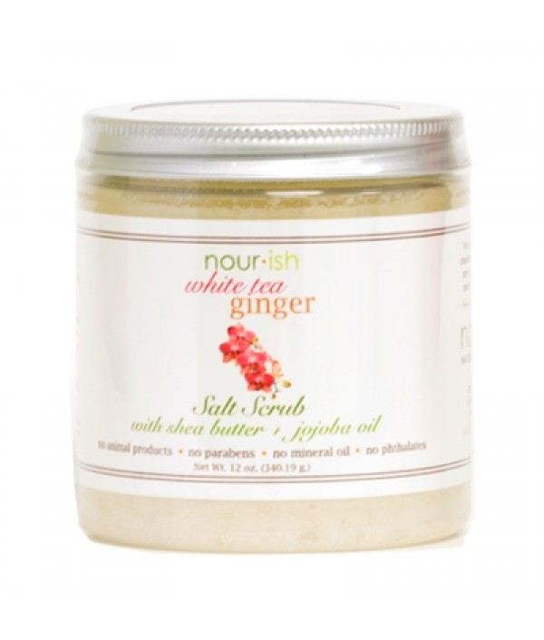 nourish white tea ginger salt scrub
