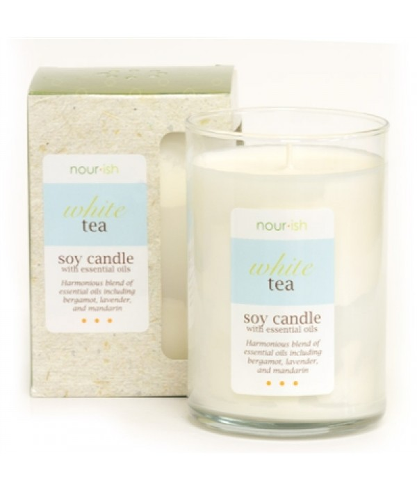 nourish white tea soy candle